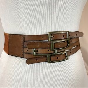 Samant Chauhan Anthropologie Stretch Leather Belt